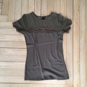 H&M olive green shirt size small